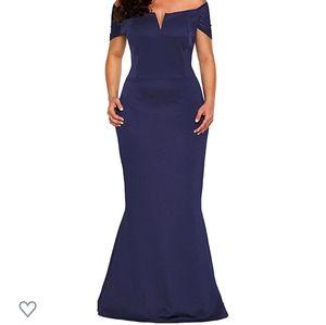 Nwot xxl navy blue evening gown